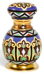 A GOLD AND ENAMEL SCENT FLASK, SAMPSON MORDAN & CO., LONDON, CIRCA 1870
