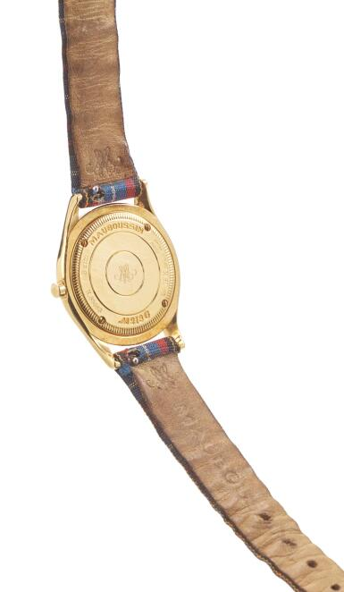 View 3. Thumbnail of Lot 8079. MAUBOUSSIN  | A YELLOW GOLD AND DIAMOND-SET WRISTWATCH WITH MOTHER-OF-PEARL DIAL, CIRCA 1998.