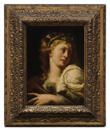View 2. Thumbnail of Lot 19. Sold Without Reserve | NORTH ITALIAN SCHOOL, 17TH CENTURY | PORTRAIT OF A LADY, BUST LENGTH, PLAYING A MUSICAL INSTRUMENT.