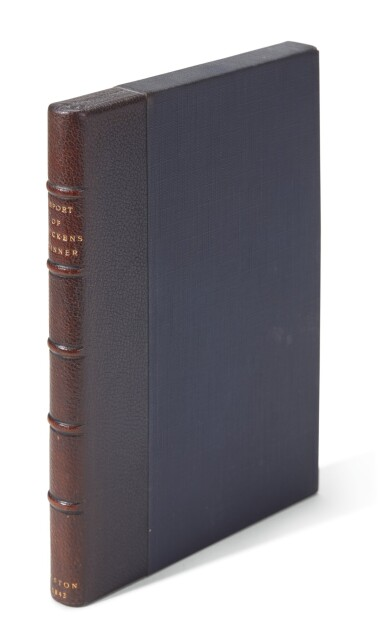Gill and English, Report of the Dinner given to Charles Dickens, in Boston, 1842, first edition
