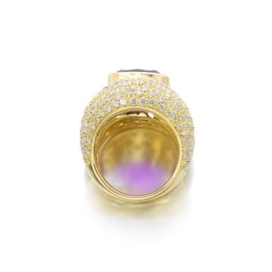 View 3. Thumbnail of Lot 3. MICHELE DELLA VALLE | AMETHYST AND DIAMOND RING.