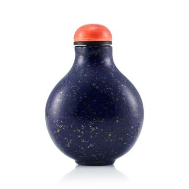 View 2. Thumbnail of Lot 3013. A Lapis Lazuli Snuff Bottle Qing Dynasty, 18th - 19th Century | 清十八至十九世紀 青金石鼻煙壺.