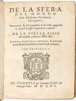 Piccolomini   Della sfera del mondo, Venice, 1561, later vellum