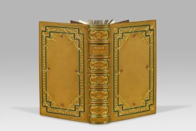 View 1. Thumbnail of Lot 40. FLAUBERT. Madame Bovary. Paris, 1857. In-12. Reliure de Chambolle-Duru. Édition originale, ex. sur vélin fort..