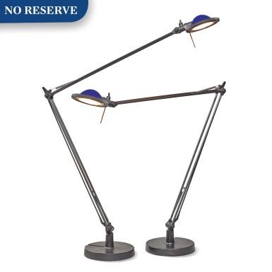 "View 1. Thumbnail of Lot 296. Pair of ""Berenice"" Table Lamps, Model D12."