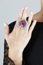 PALMIERO   GEM SET AND DIAMOND RING