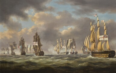 ROBERT DODD | The battle of San Domingo, 6 February 1806