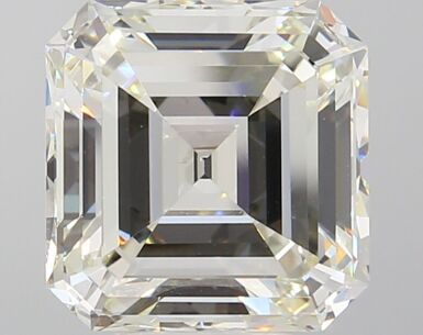 A 5.24 Carat Square Emerald-Cut Diamond, L Color, VS1 Clarity