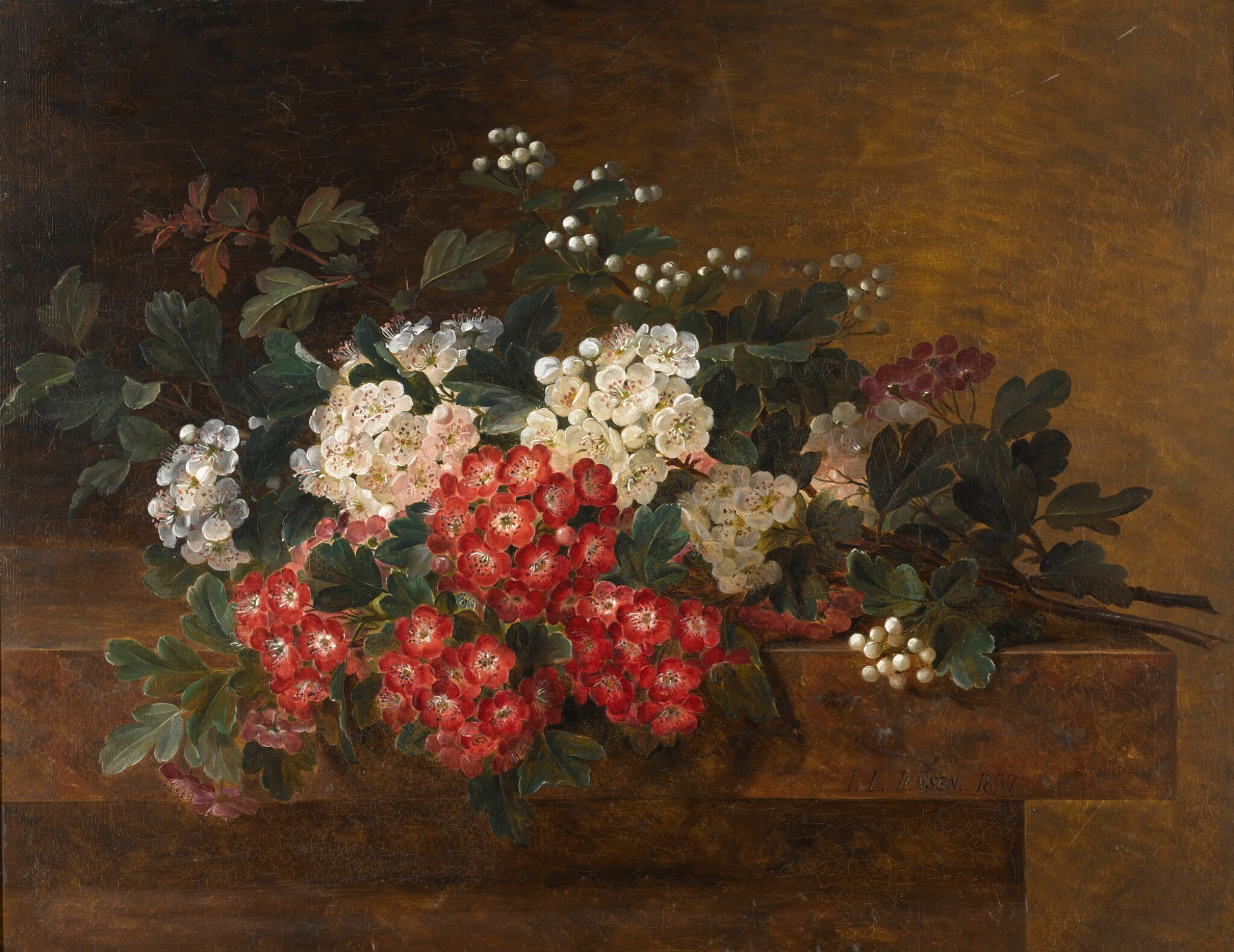 View 1 of Lot 112. Still Life with Hawthorn Blossom.