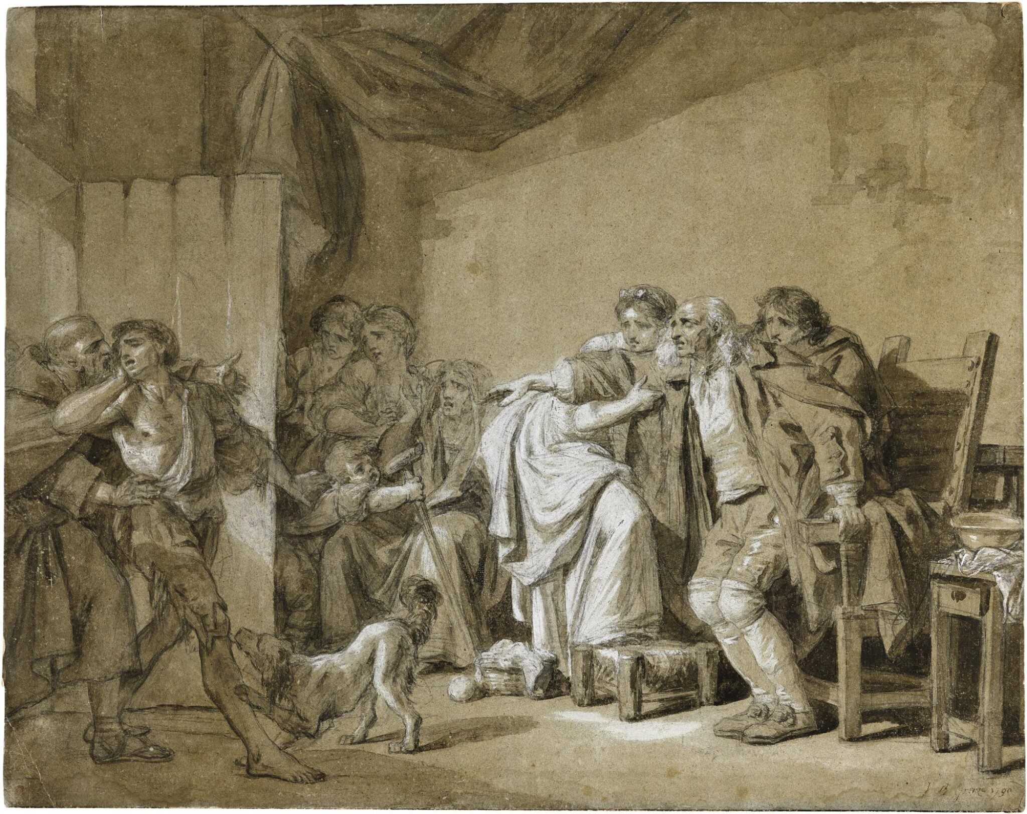 View full screen - View 1 of Lot 64.  JEAN-BAPTISTE GREUZE | THE RETURN OF THE PRODIGAL SON.