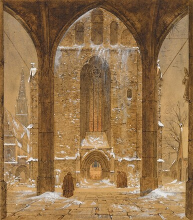 View 1. Thumbnail of Lot 40. Cloister in Winter.