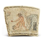 Nilotic, Roman, circa 2nd Century A.D. | Mosaic Border Fragment