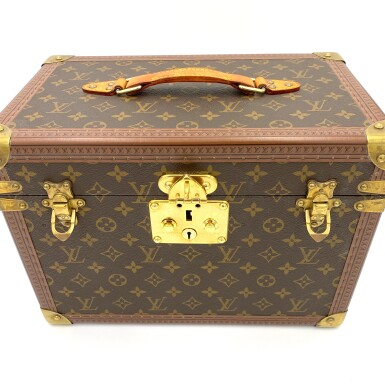 View 7. Thumbnail of Lot 734. LOUIS VUITTON | BOX PHARMACIE TRAVEL CASE IN MONOGRAM CANVAS.