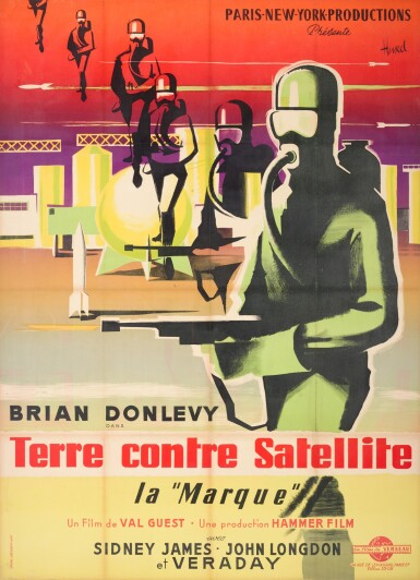 QUATERMASS II / TERRE CONTRE SATELLITE (1967) POSTER, FRENCH