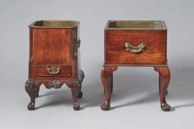 View 3. Thumbnail of Lot 520. A GEORGE II MAHOGANY JARDINIÈRE, 18TH CENTURY, TOGETHER WITH AN ANGLO-DUTCH MAHOGANY JARDINIÈRE, 19TH CENTURY.