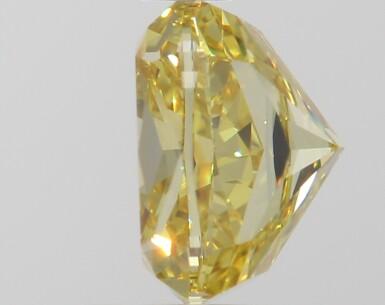 A 1.76 Carat Fancy Intense Yellow Cushion-Cut Diamond, VVS2 Clarity