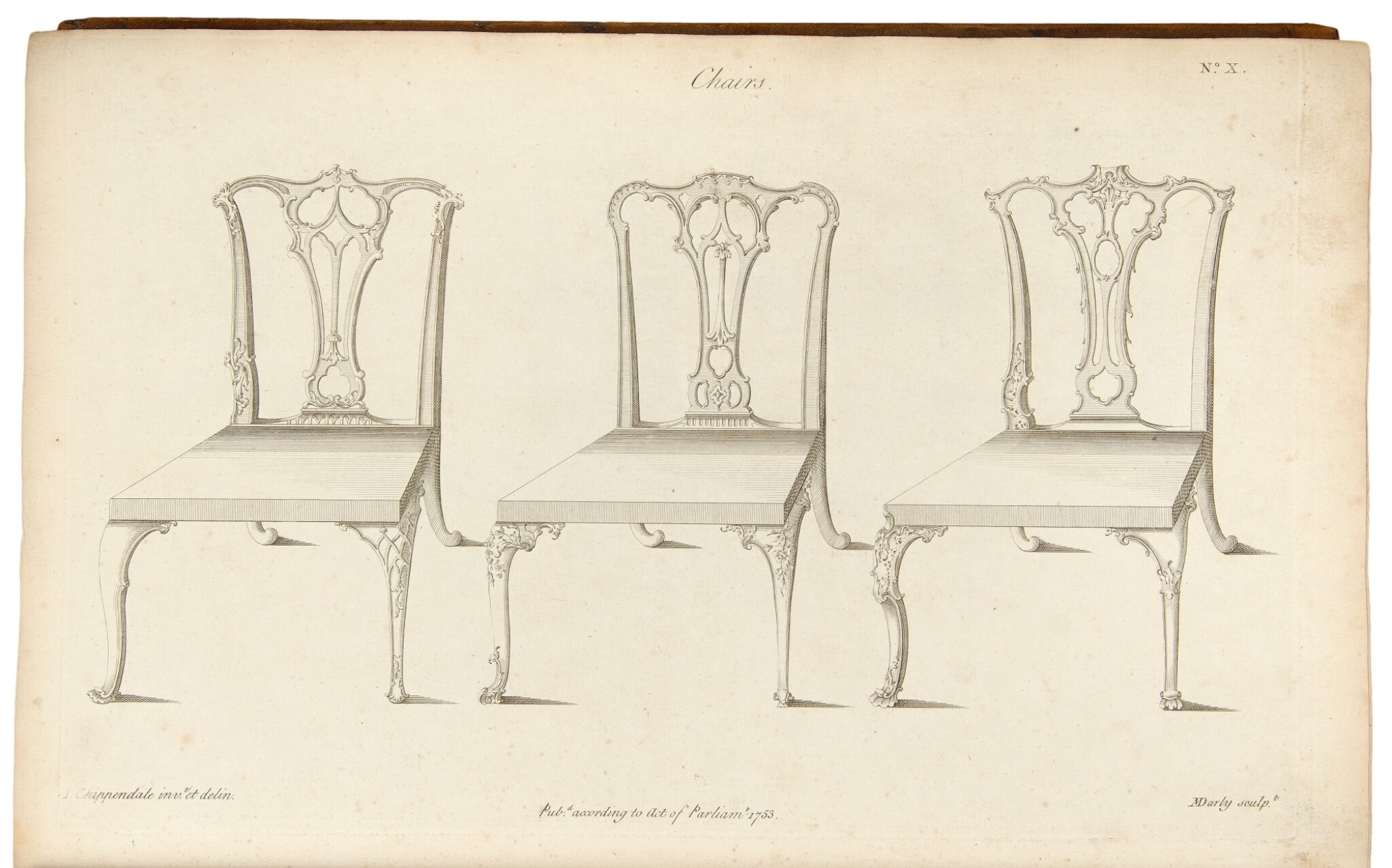 View full screen - View 1 of Lot 33. Thomas Chippendale. The Gentleman and Cabinet-Maker's Director: London: 1762.