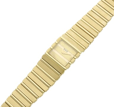View 6. Thumbnail of Lot 30. Reference 7131 C 701 Polo  A yellow gold square shaped bracelet watch, Circa 1985 .