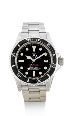 "ROLEX | SEA-DWELLER ""DOUBLE RED"", REFERENCE 1665,  A STAINLESS STEEL WRISTWATCH WITH DATE AND BRACELET, CIRCA 1978"