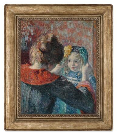 View 2. Thumbnail of Lot 38. Madame Lebasque et sa fille Marthe.