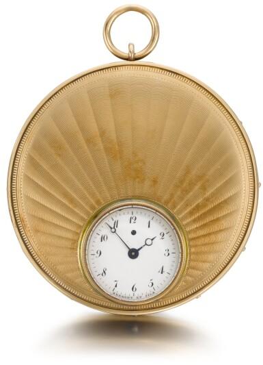 View 2. Thumbnail of Lot 29. BREGUET ET FILS  [ 寶璣]  | A RARE AND LARGE GOLD AND SILVER RUBY CYLINDER MONTRE À TACT  NO. 2065, 'SOUSCRIPTION À TACT' SOLD TO MONSIEUR COMPAIN ON 23 NOVEMBER 1824 FOR 1,300 FRANCS  [ 罕有大型黃金及銀製觸覺懷錶備紅寶石工字輪擒縱機芯,編號2065,1824年11月23日以1,300法郎售出].