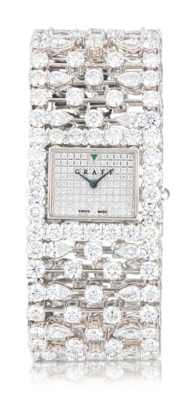 View 1. Thumbnail of Lot 1027. 'Graff Lace' Reference MA20WGDD, Limited Edition White Gold and Diamond-Set Wristwatch   格拉夫  Graff Lace編號MA20WGDD,限量版白金鑲鑽石腕表,約2010年製.