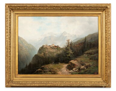 View 2. Thumbnail of Lot 205. A Mountain Landscape .
