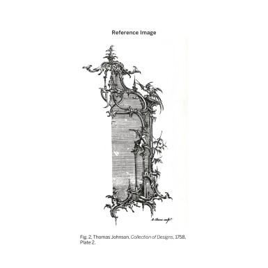 A GEORGE III CARVED GILTWOOD MIRROR, CIRCA 1760
