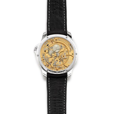 View 3. Thumbnail of Lot 2202. Ludovic Ballouard   Half Time, A brand new platinum jumping hour wristwatch with retrograde minutes, Circa 2012   Half Time 全新鉑金跳時腕錶,備逆跳分鐘,約2012年製.