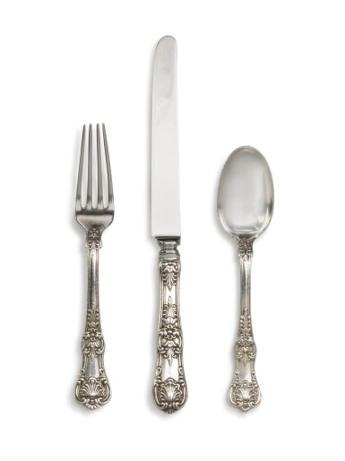 View 1. Thumbnail of Lot 107. An Extensive American Silver English King Pattern Flatware Service, Tiffany & Co., New York, Late 19th Century and Later.