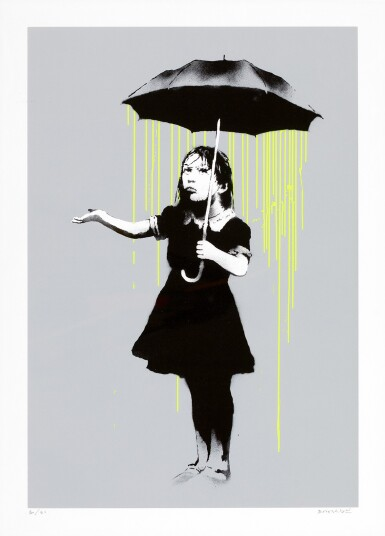 BANKSY | NOLA (GREEN RAIN)