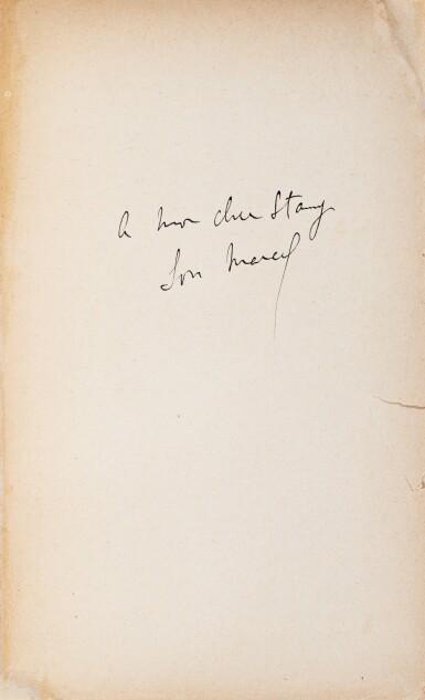 View 2. Thumbnail of Lot 173. La Bible d'Amiens. [Et :] Sésame et les Lys. Les deux exemplaires avec un envoi a.s..