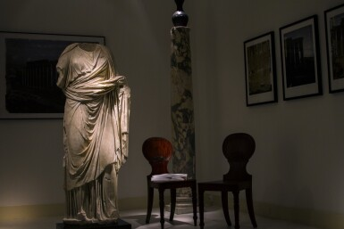 View 4. Thumbnail of Lot 70. A Roman Marble Portrait Statue of a Woman, circa 1st Century A.D..
