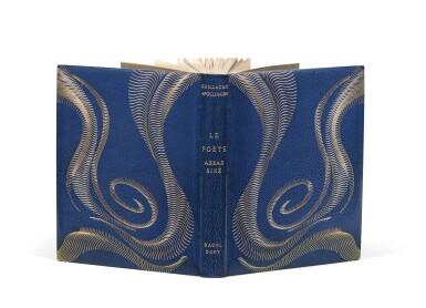 View 1. Thumbnail of Lot 127. Le Poète assassiné. 1926. Belle reliure de Paul Bonet. Ex sur Japon, avec 2 suites..