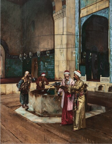 View 1. Thumbnail of Lot 20. RUDOLF ERNST | AFTER PRAYERS.