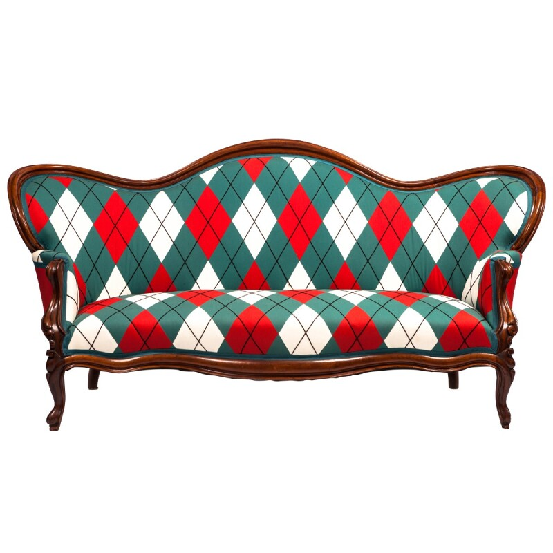 Victorian Upholstered Settee