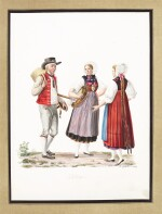 Costumes Suisses | Album of watercolour drawings of Swiss costume.