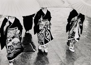 KIICHI ASANO | 'A RAINY COMMENCEMENT CEREMONY', 1953; AND UNTITLED (FROM THE SERIES THE GION QUARTER), 1956