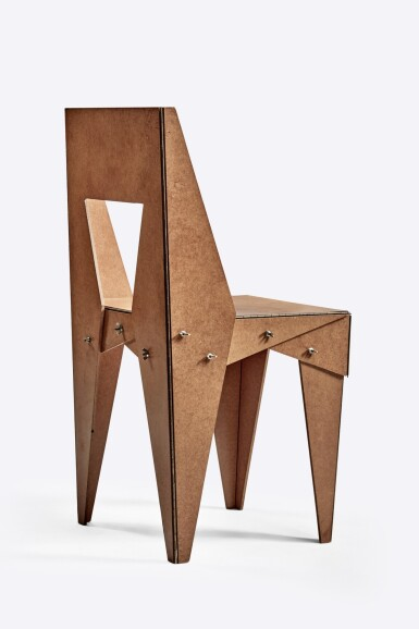 """View 2. Thumbnail of Lot 108. """"Wing-Nut"""" Chair."""