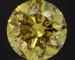 A Pair of Fancy Vivid Yellow Diamonds Each Weighing 1.01 Carats, SI2 Clarity