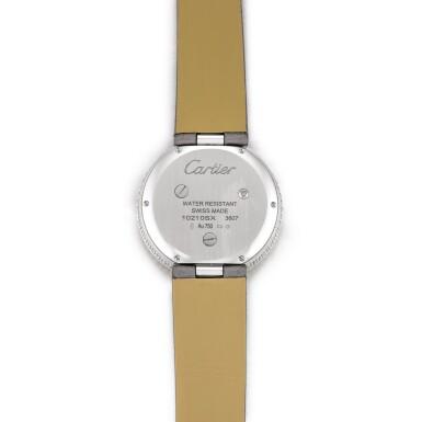 View 3. Thumbnail of Lot 2058. Cartier   Panthère Divine, Reference 3607, A white gold, black enamel and diamond-set wristwatch, Circa 2013   卡地亞   Panthère Divine 型號3607 白金鑲黑色琺瑯及鑽石腕錶,約2013年製.