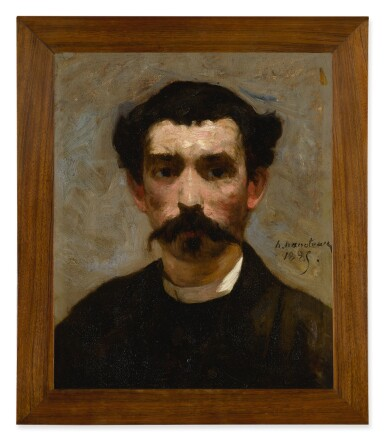 View 3. Thumbnail of Lot 134. HECTOR HANOTEAU  |  PORTRAIT OF A MAN WITH A MUSTACHE.