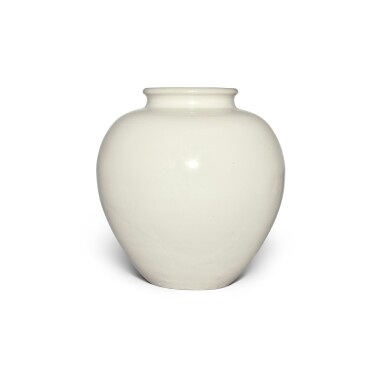 View 2. Thumbnail of Lot 98. A white-glazed pottery ovoid jar, Tang dynasty | 唐 白釉罐.