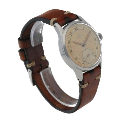 View 3. Thumbnail of Lot 430. REF 2383-6 STAINLESS STEEL WRISTWATCH WITH TWO-TONE DIAL CIRCA 1947.