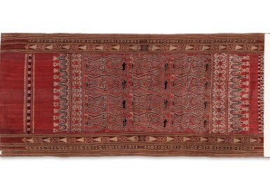 View 4. Thumbnail of Lot 6. Un textile cérémoniel pua et trois nattes, Indonésie | A ceremonial cloth pua and three mats, Indonesia.
