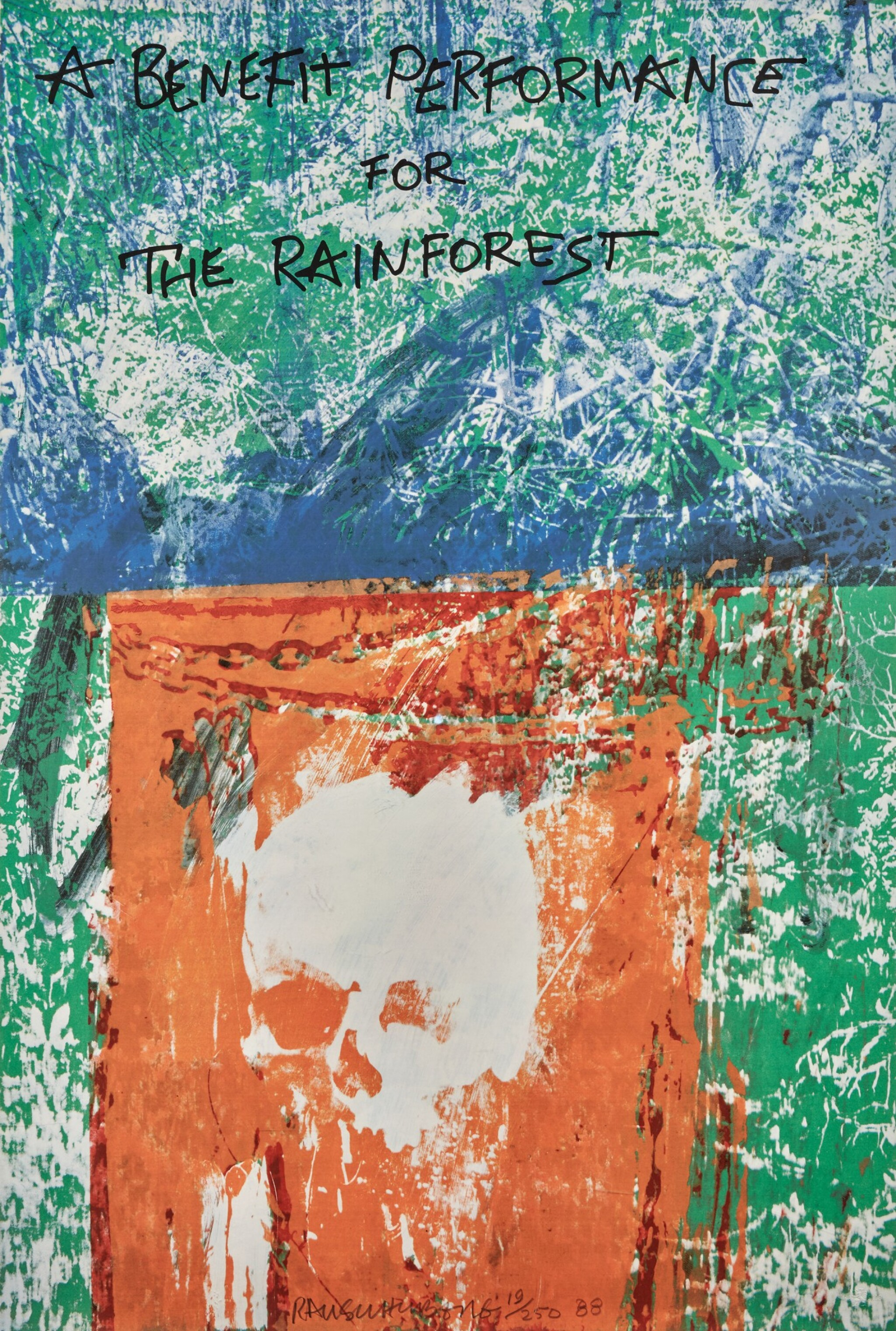 View full screen - View 1 of Lot 125. Robert Rauschenberg | Commemorating the Dead.