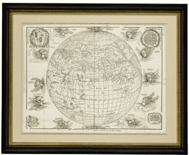 View 2. Thumbnail of Lot 176. DÜRER, ALBRECHT, AND JOHANN STABIUS | [Map of the World as a Sphere].[Vienna,] 1781 (fromwoodblocks cut in 1515).