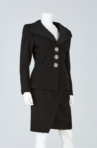 View 2. Thumbnail of Lot 39. Haute Couture Suit Ensemble, Fall/Winter Collection, 1989.