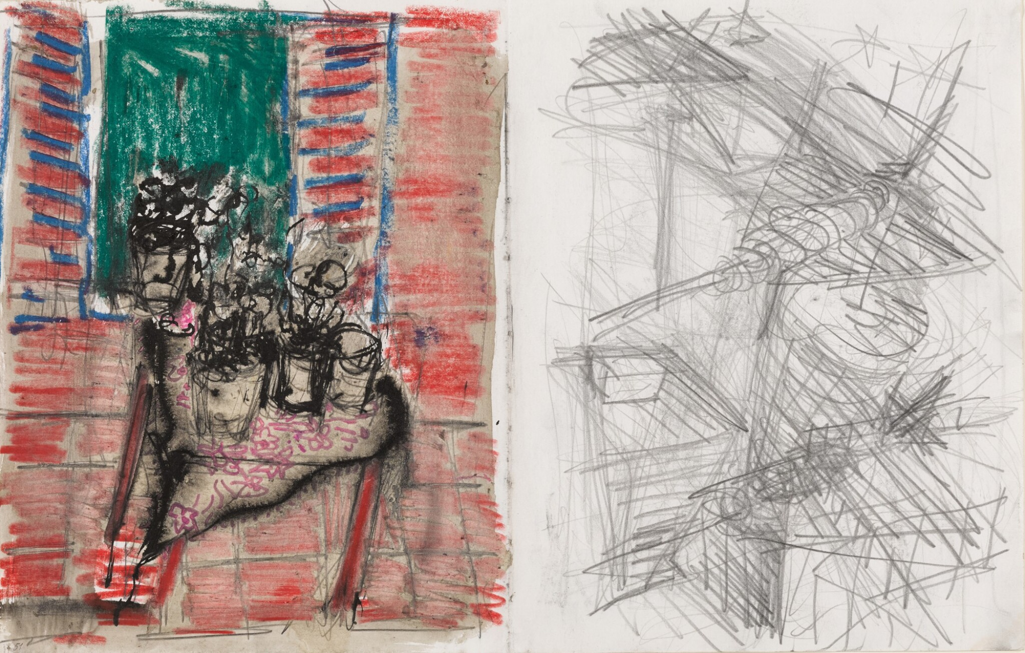 View full screen - View 1 of Lot 20. ASIM ABU SHAKRA | UNTITLED (AIRPLANES, CACTUS PLANTS ON THE WINDOW).