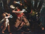 GIOACCHINO ASSERETO |  Rinaldo stopping Armida from taking her life